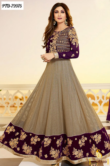Shilpa Shetty Fancy Anarkali Salwar Suits and Dresses For Wedding And Party Online Shopping Collection