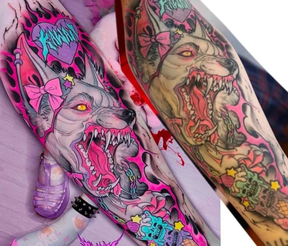 Tatuaje con photoshop y sin photoshop
