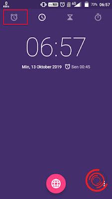 3. Kemudian pilih ikon Alarm yang sama persis seperti yang berada di status bar