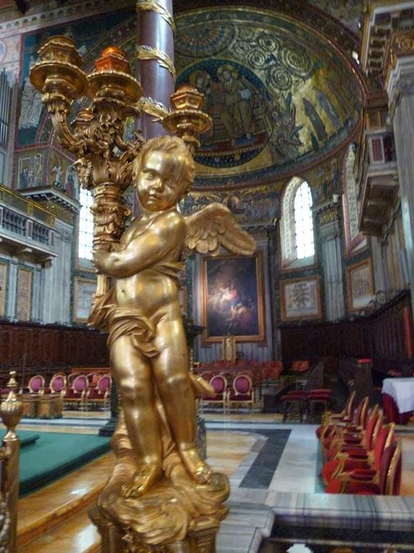 Enfeite do altar da Basílica de Santa Maria Maior