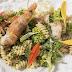 Βιδάκια με γαρίδες και μπρόκολο