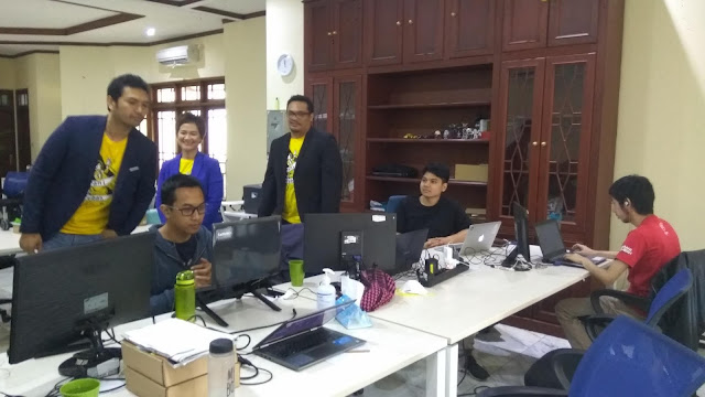 Suasana di kantor Qlue (dok.windhu)