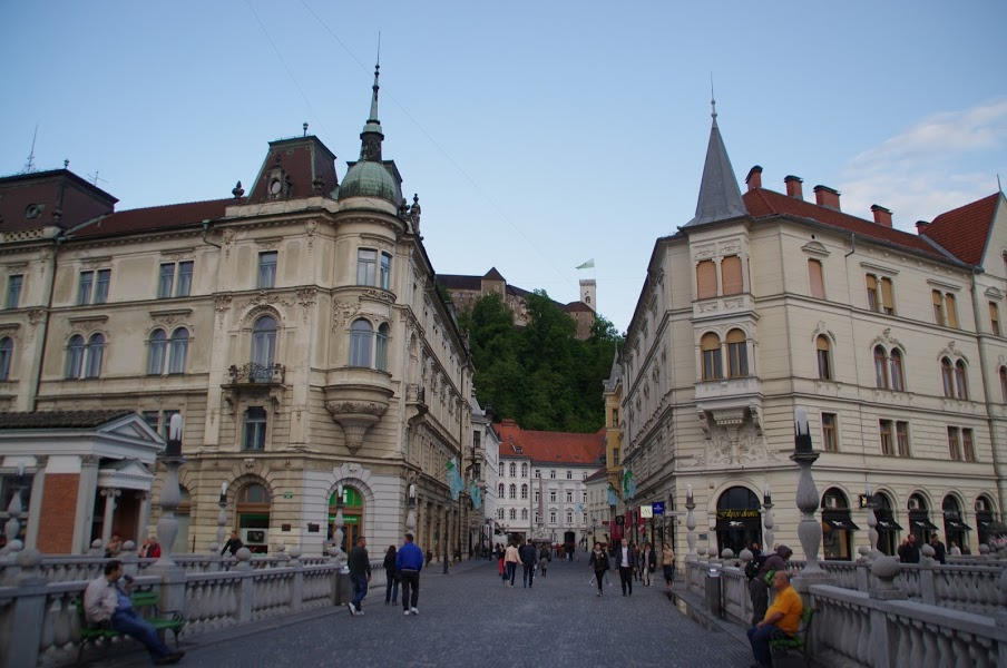 Ljubljana Main Square and Castle