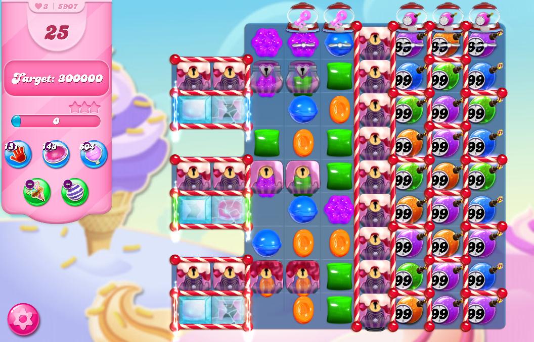 Candy Crush Saga level 5907