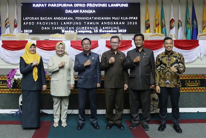 DPRD Lampung Setujui KUA PPAS APBD 2020, Pendapatan Daerah Capai Rp7,866 Triliun