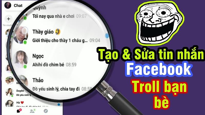 Ứng dụng Tạo và Sửa Tin nhắn Messenger để Troll bạn bè cực khắm bựa - Fake Messenger Chat Troll