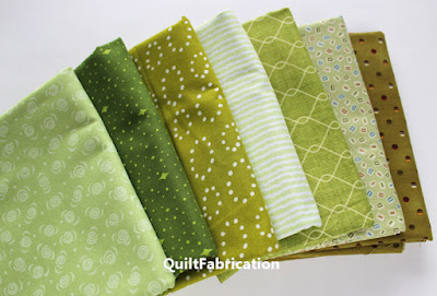 selection of green fabrics