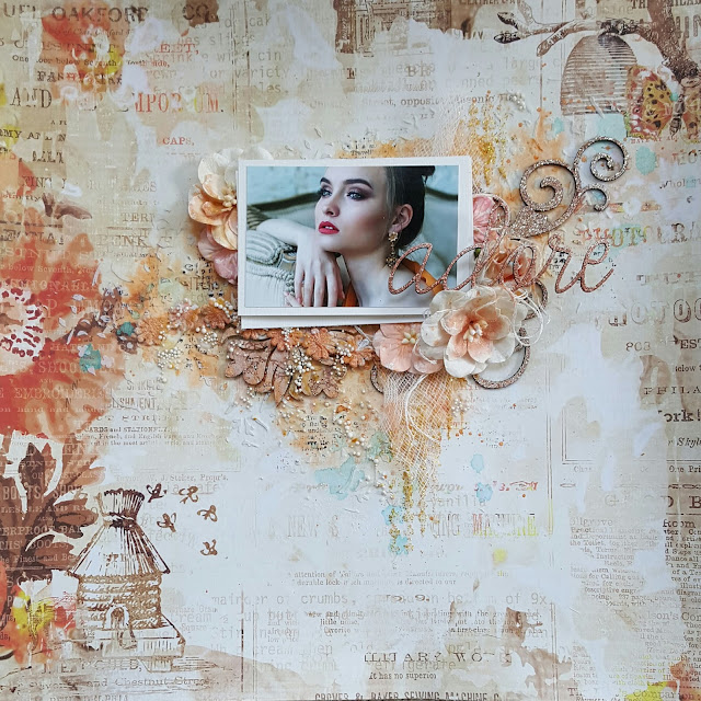 Mixed Media Layout Words and Paintery