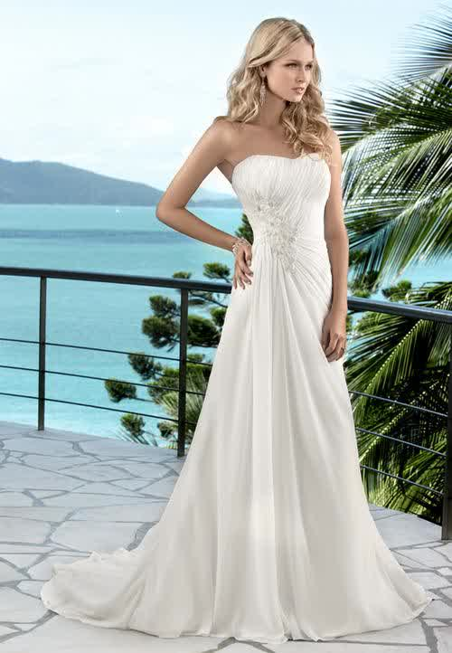Tropical Hawaiian Beach Wedding Dresses Gown