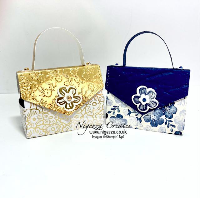 Mini Handbag Gift Bag For 2 Mini Green & Black's Chocolate Bars