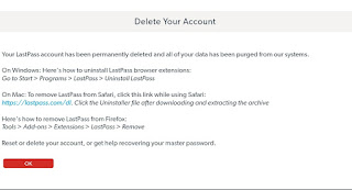 Lastpass Account Deleted Successfully