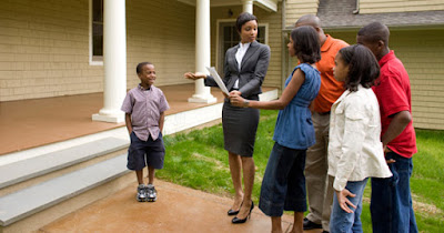 Low income family buying affordable home