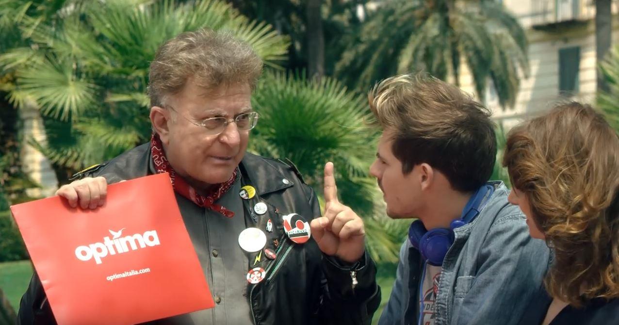 Attore e cantante spot Optima con Red Ronnie - Testimonial Spot Pubblicitario Optima 2016