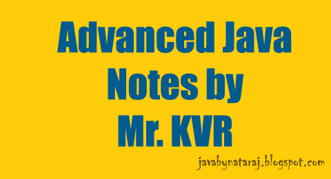 Advanced Java(JEE) notes by KVR sir Download_JavabynataraJ