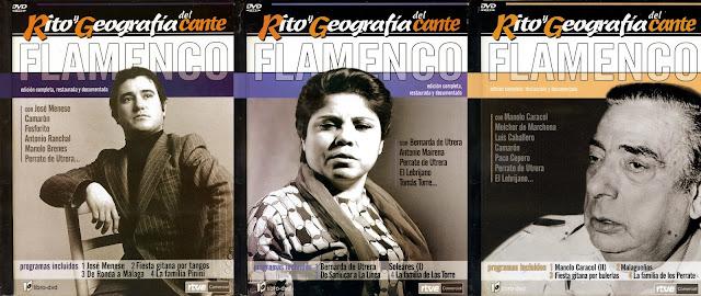 DVD de Rito y geografía del Cante donde interviene El Perrate con su familia en diversos programas
