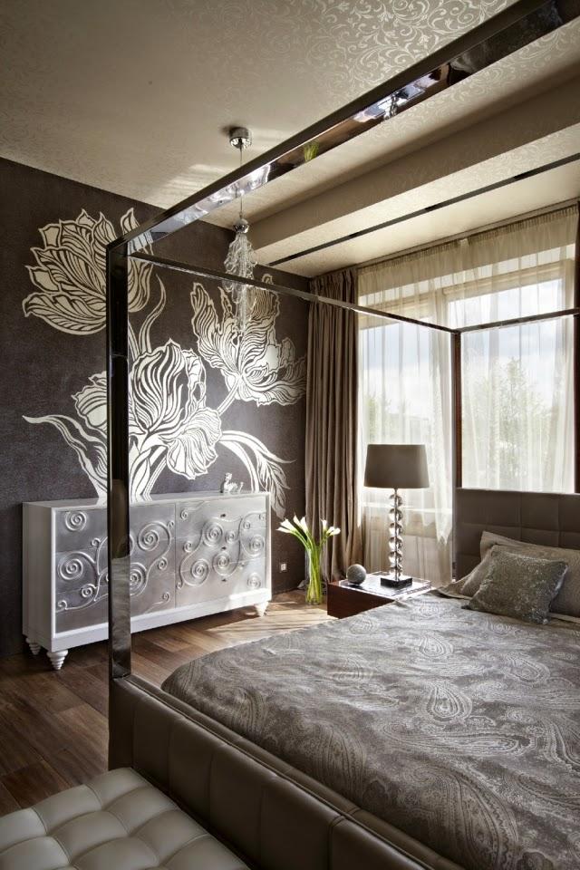 Habitación paredes decoradas