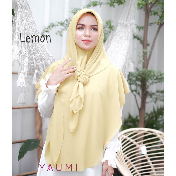 Yaumi Hijab Khimar Salma Lemon