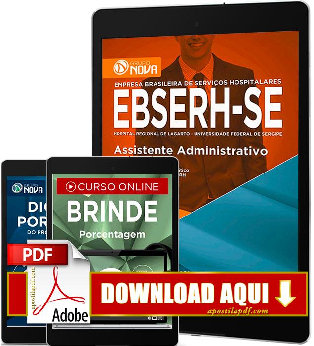 Apostila EBSERH SE 2016 PDF Download Assistente Administrativo