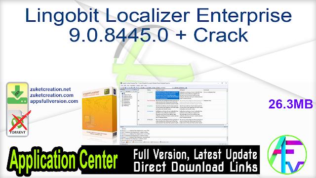 Lingobit Localizer Enterprise 9.0.8445.0 + Crack