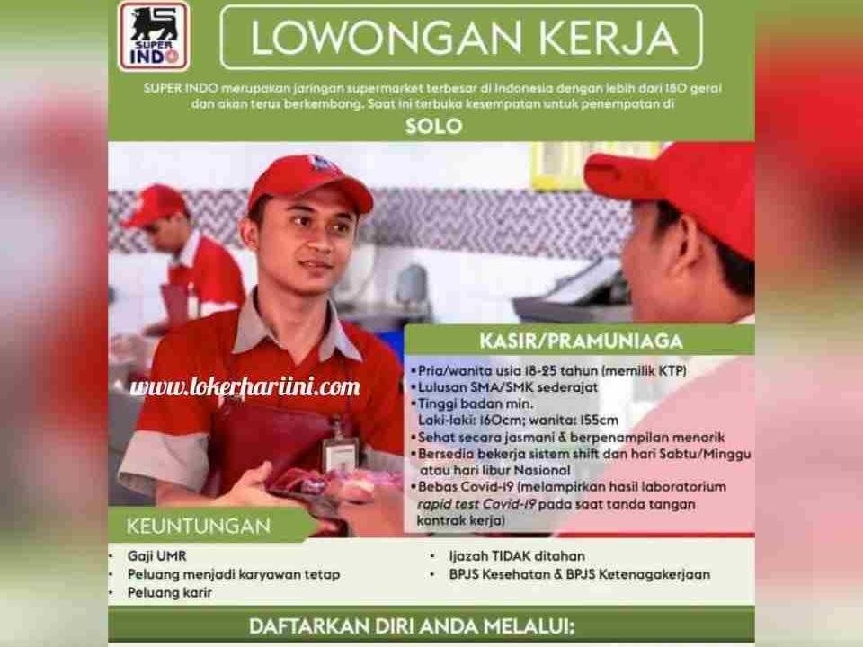 Lowongan Lowongan Kerja Sma Smk Superindo Solo 2021