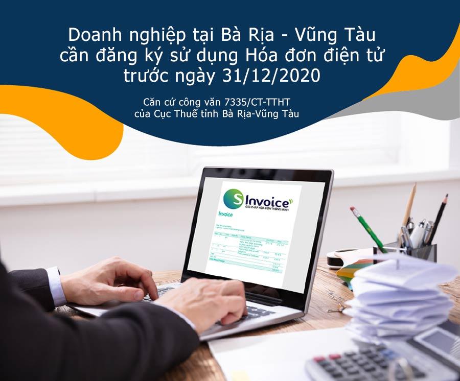 Ảnh minh họa: Doanh nghiệp tại Bà Rịa - Vũng Tàu cần đăng ký hóa đơn điện tử trước 31/12/2020