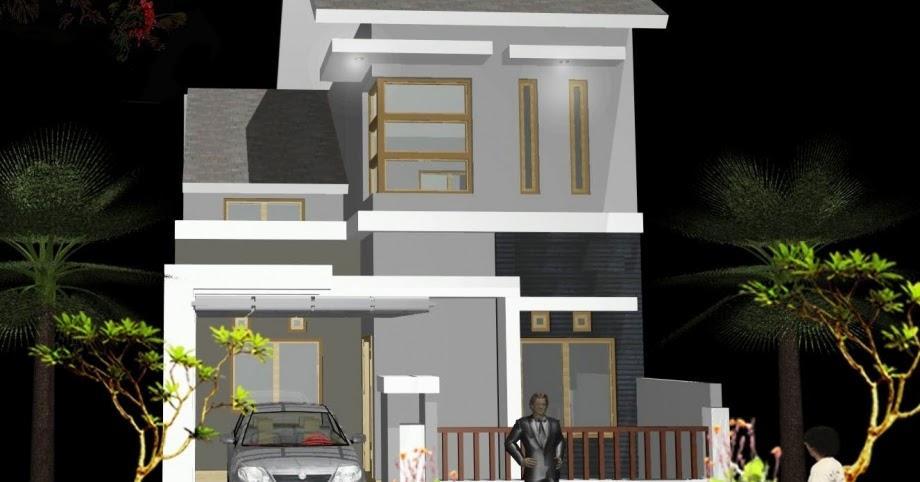 Denah Rumah Minimalis 2 Lantai Type 3672