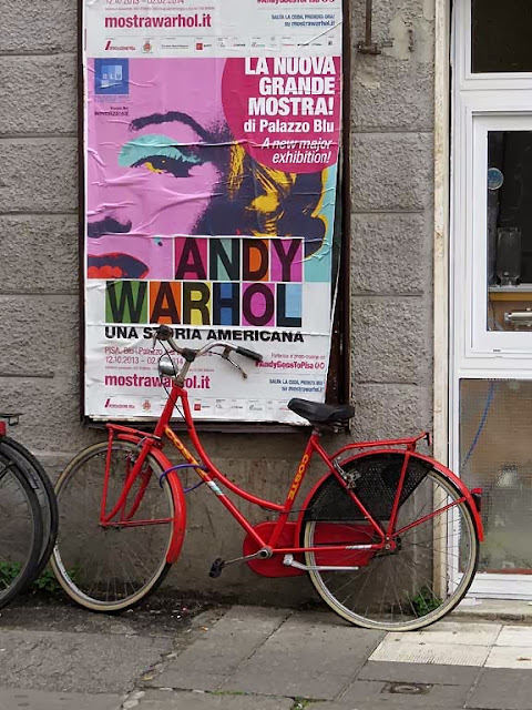 Andy Warhol bicycle, corso Amedeo, Livorno