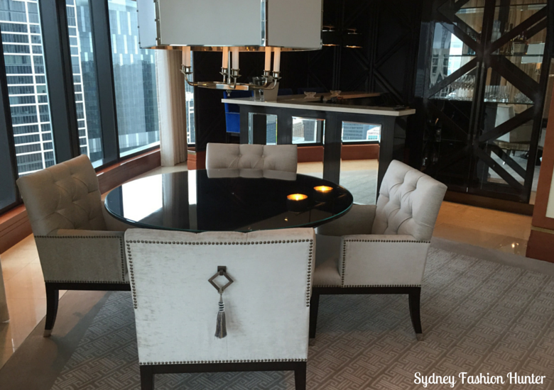 Sydney Fashion Hunter: Crown Towers Melbourne Deluxe Villa - Dining Room