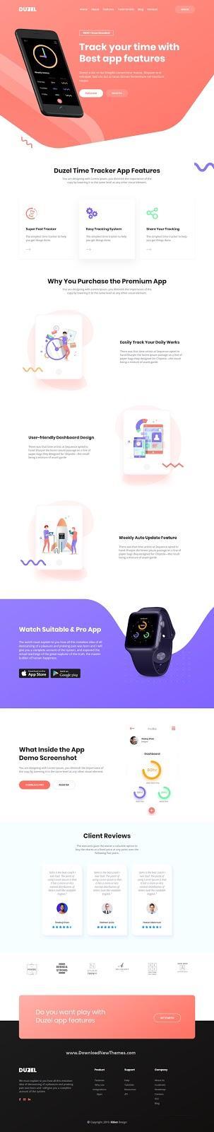 App & Saas Landing Page Template