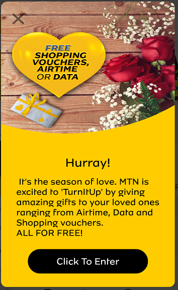 Valentine Day Offer: Get Free 2GB, N1000 Free Airtime From MTN