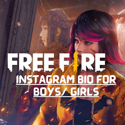 Instagram bio for free fire gamers
