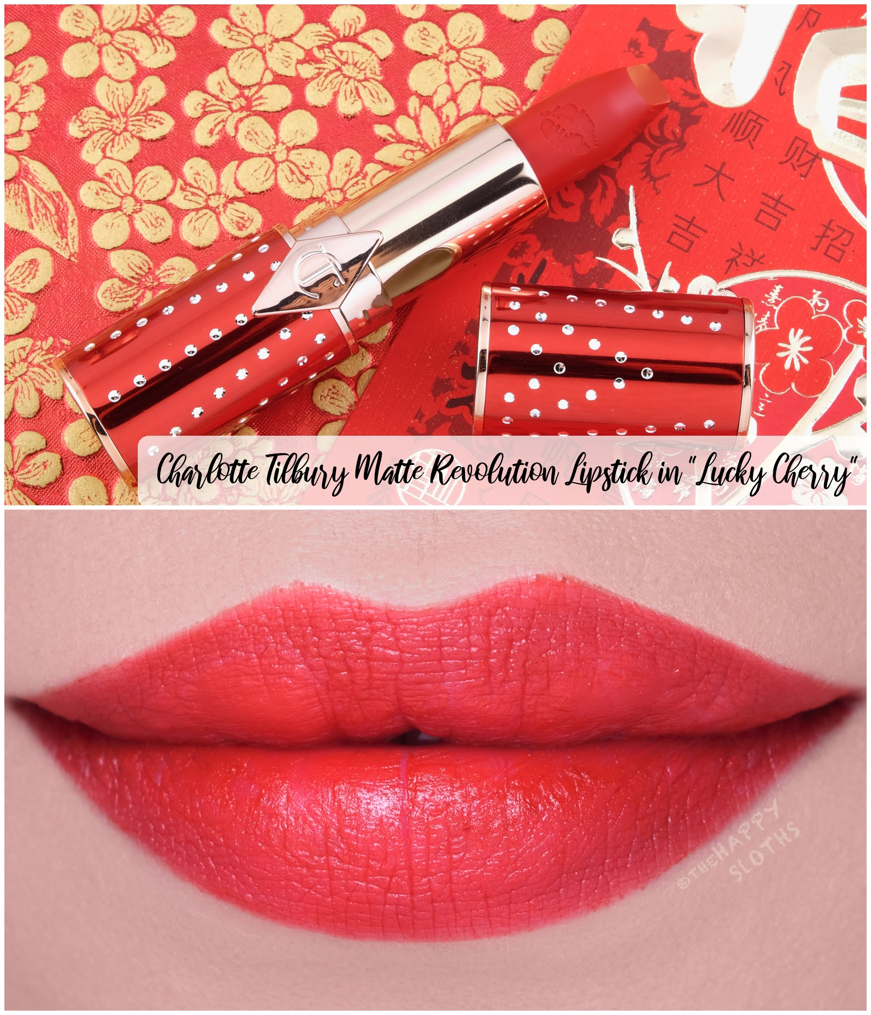 "Charlotte Tilbury | Lunar New Year Matte Revolution Lipstick in ""Lucky Cherry"": Review and Swatches"