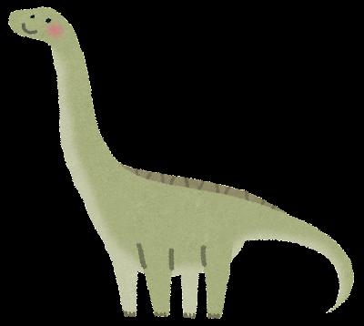 アパトサウルスのイラスト(恐竜)
