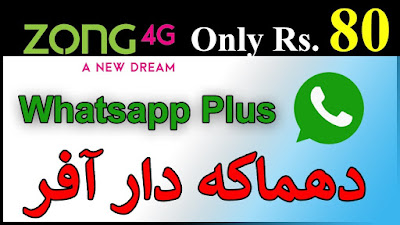 Zong WhatsApp Plus Offer Subscribe & Unsubscribe