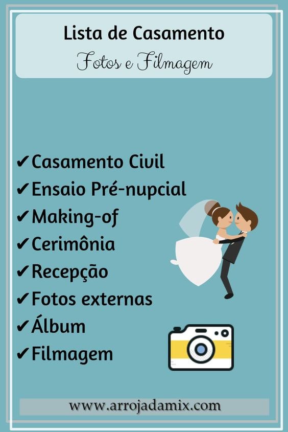 Lista de Preparativos para Casamento