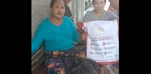 Emak-emak Heran Bantuan Presiden Hanya Berisi Empat Jenis, Iwan Sumule: Kenapa Berkurang, Ada Indikasi Korupsi?