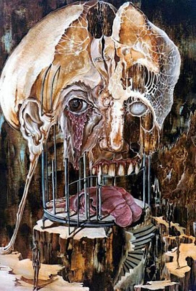Otto Rapp, Macabre Art, Macabre Paintings, Horror Paintings, Freak Art, Freak Paintings, Horror Picture, Terror Pictures