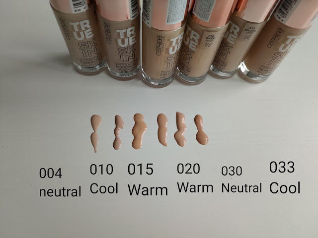 catrice true skin kolory