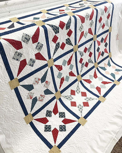 Rocket Star Quilt made by Anna Dineen of My Wandering Path, The Pattern designed by Fat Quarter Shop