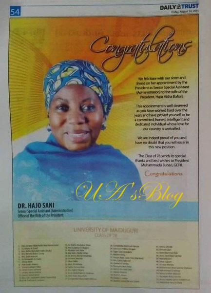 President Buhari Ignores His Own Promise, Appoints 10 Aides For Office Of Wife Of President, VP