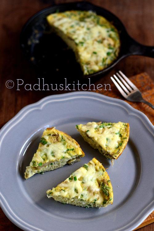 Mushroom Frittata-Oven baked mushroom frittata