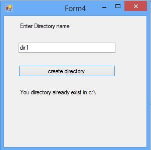 How to create a Directory in C#