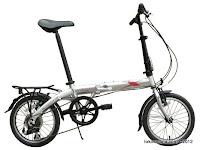 A 16 Inch Fold-X Sakura 7005 Alumunium Alloy Folding Bike