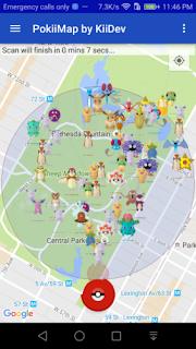 PokiiMap 0.9-Alpha Apk - A working Pokemon Map Scanner Gratis