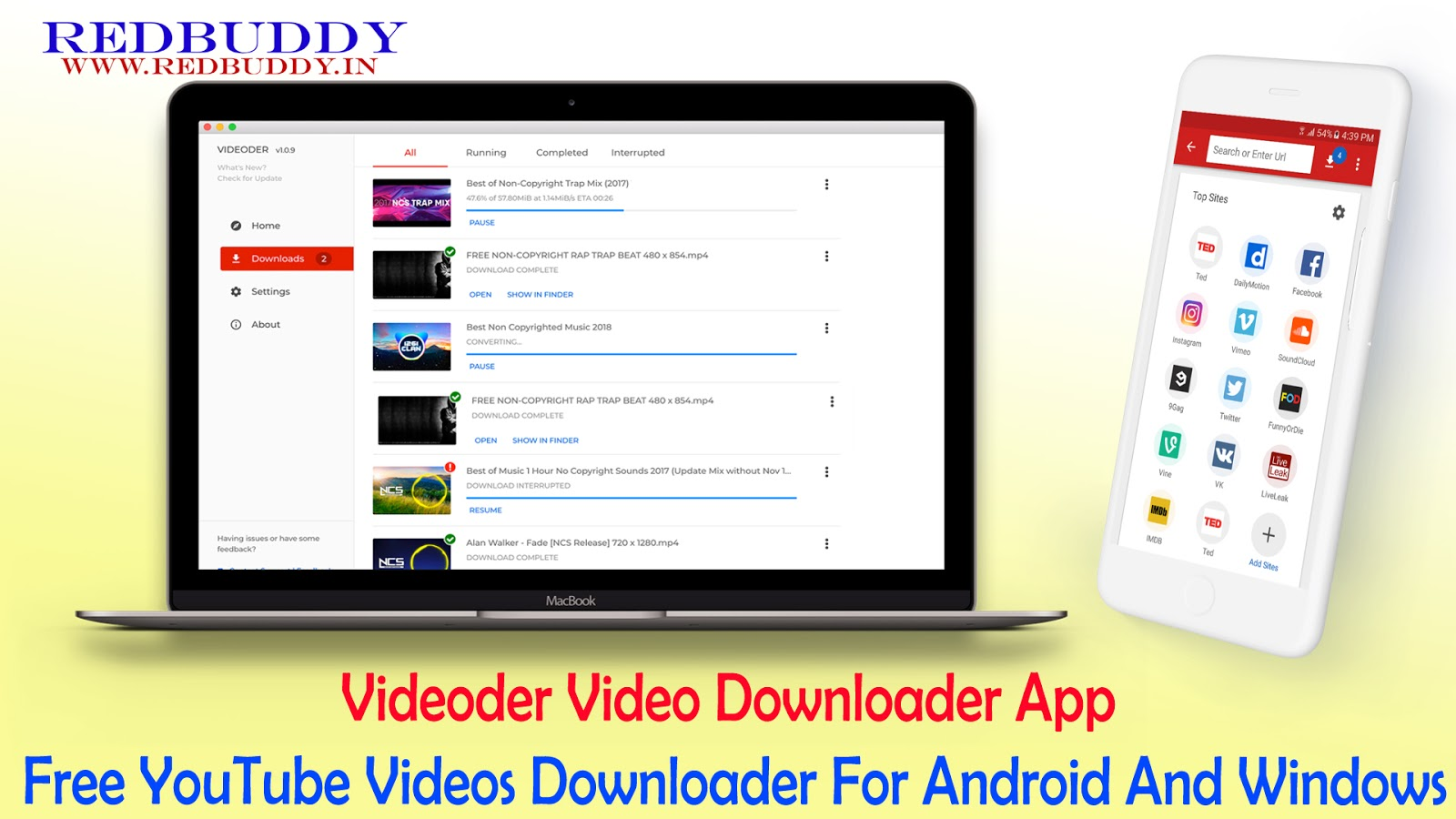 Videoder Video Downloader App - Free YouTube Videos
