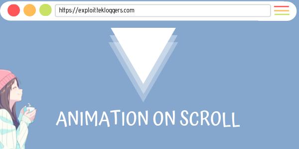 Cara Membuat Animasi Ketika Web Di Scroll Dengan AOS
