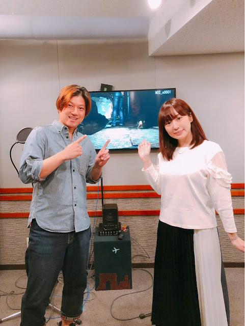 Masaya Matuskaze (left) and Haruka Terui (right), the voices for Ryo Hazuki and Shenhua Ling in Shenmue III.