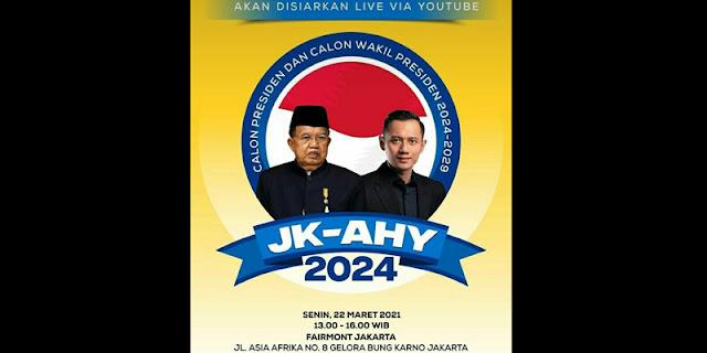 Beredar Poster JK-AHY, Demokrat Tuding GPK-PD Yang Tebar Fitnah