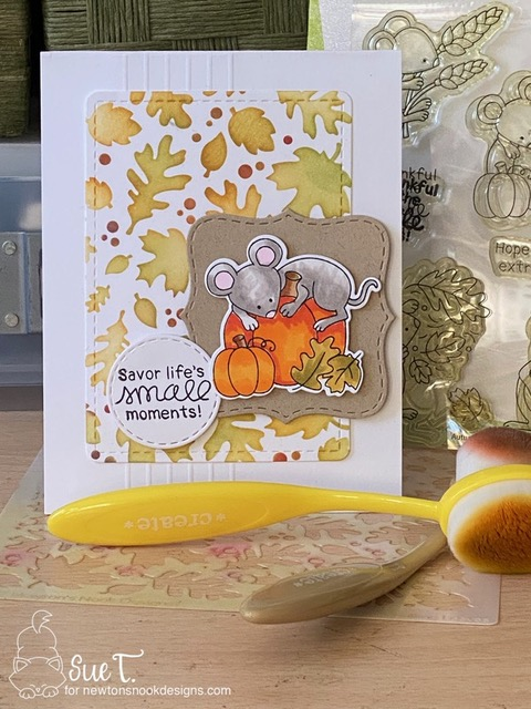 Savior the small moments by Sue features Falling Leaves, Autumn Mice, Frames Squared, and Frames & Flags by Newton's Nook Designs: #inkypaws, #newtonsnook
