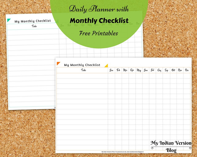 Multipurpose-monthly-checklist-free-printble